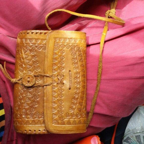 NEW! • Polish folk leather crossbody bag •