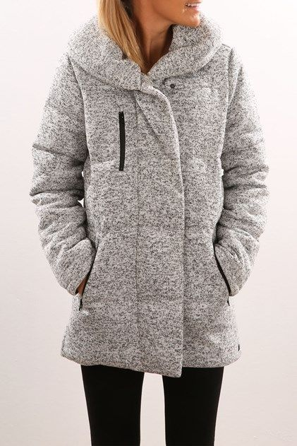 JEAN JAIL - HURLEY || 'Augustine Puffer' jacket heather cool grey | Chaqueta gris 'Augustine Puffer'