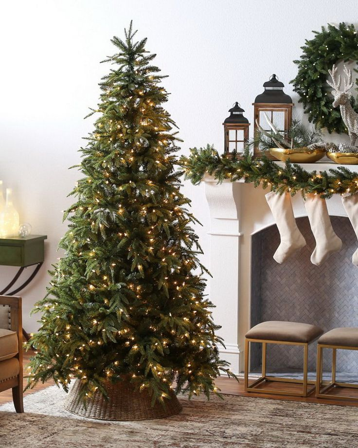 Belham Living 7.5 ft. Classic Mixed Needle Pre-Lit Full Christmas Tree