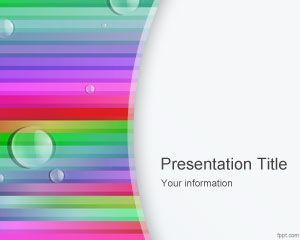 Rainbow Lines PowerPoint Template PPT Template