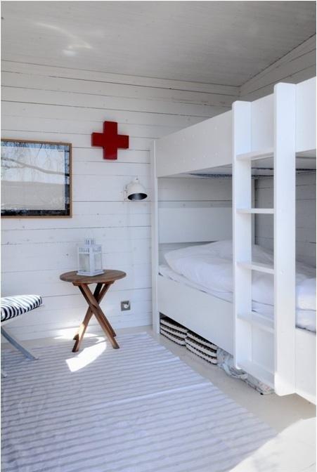 Summer house bunk room