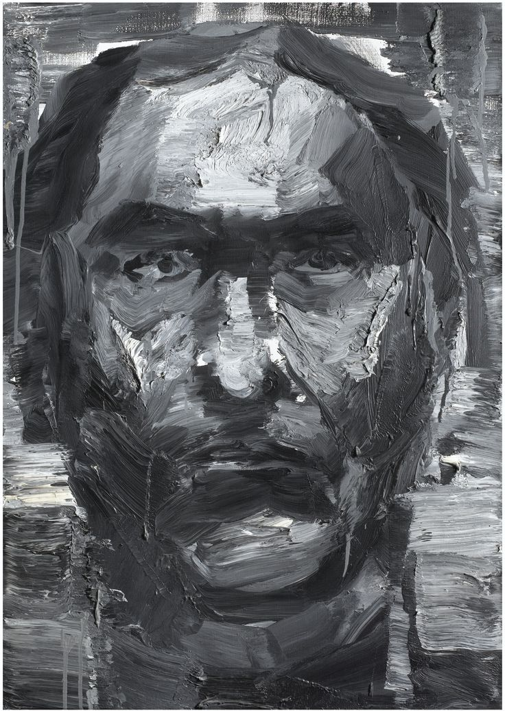 Yan Pei-Ming PORTRAIT D'UN INCONNU (DE LA SÉRIE INVISIBLE MAN) SIGNED, SIGNED IN CHINESE, TITLED AND DATED 11.95 ON THE REVERSE; OIL ON CANVAS. EXECUTED IN 1995