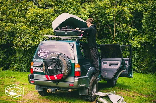 The Joys Of A Roofbox On A Lifted Truck Daniel Always Gets The Fun Job Of Unloading When We Arrive At Camp For The Evening Overlandn Good Job Camping Trucks