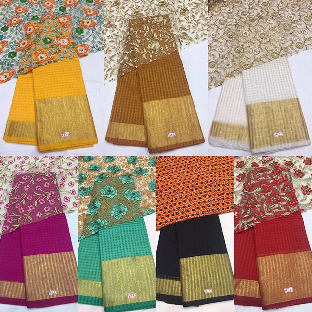 Kota banarasi Saree with heavy Emboridery blouse To purchase this product mail…