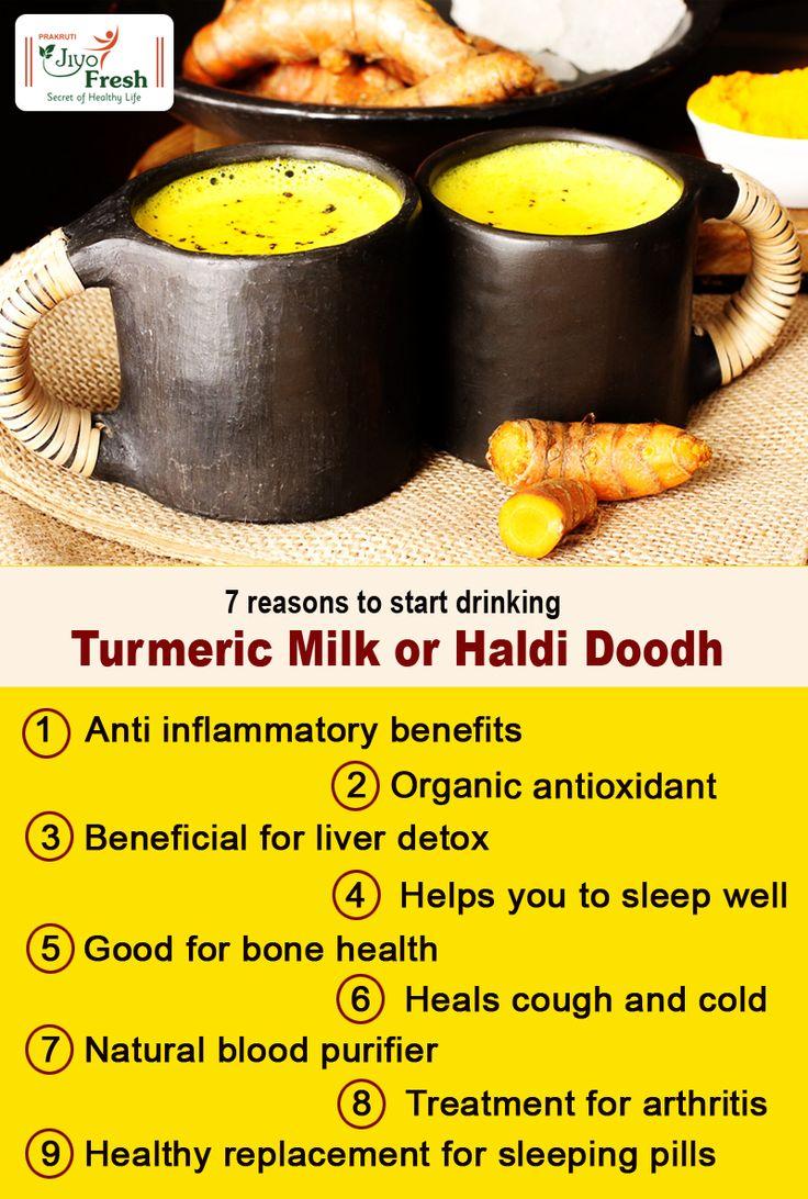 Amazing #HealthBenefits of drinking #TurmericMilk / #HaldiDoodh   #Herbs #Ayurveda #Haldi #Milk #TurmericBenefits #MilkBenefits #Healthy
