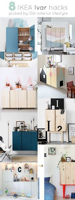 Cierro la semana con uno de los tuneos de los muebles de Ikea más bonitos que me he encontrado últimamente:  El mueble Ivar combinado y pintado en diferentes composiciones  En la fuente están el detal
