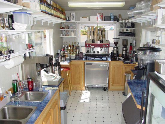 Coffee stand interior ideas