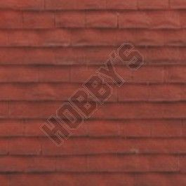 Size of Sheet: 580mm x 340mm.  1/12th Scale brick and stone effect texture to enhance your house. As these sheets are hand made, and finished there will be some variations in shade.  Hints for use: PVA Adhesive,apply light coat to surface,after applying sheet,cover with thin card then smooth over the card to enable even pressure to be applied to the sheet surface. May be trimmed or cut with Scissors, or Craft Knife