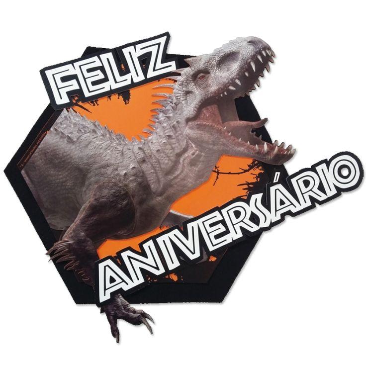 Faixa Feliz Aniversário EVA Indominus Rex Jurassic World