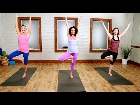 Day 21: Yoga Workout For the Ultimate Bikini Body | Class FitSugar - YouTube