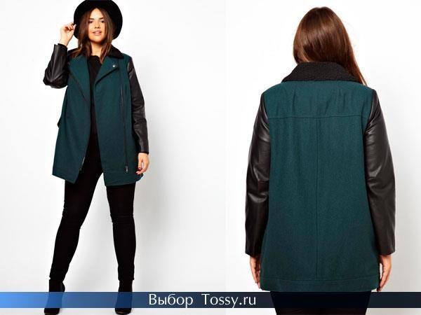Пальто для полных женщин драп