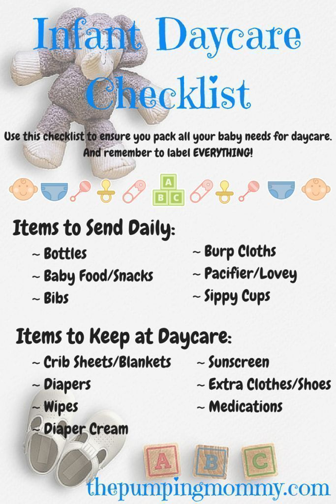 Infant Daycare Checklist - Need help getting organized for daycare? Find out my list on what to send, tips, and some of my favorite products! #ParentingTipsNeeded #daycaretips