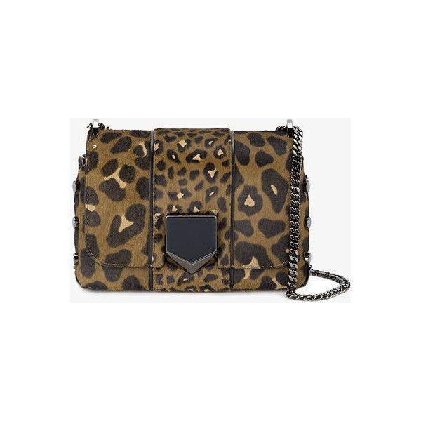 Jimmy Choo Leopard Print Petite Lockett Shoulder Bag ($1,810) ❤ liked on Polyvore featuring bags, handbags, shoulder bags, leopard purse, leopard print handbags, studded purse, leopard handbag and jimmy choo handbags