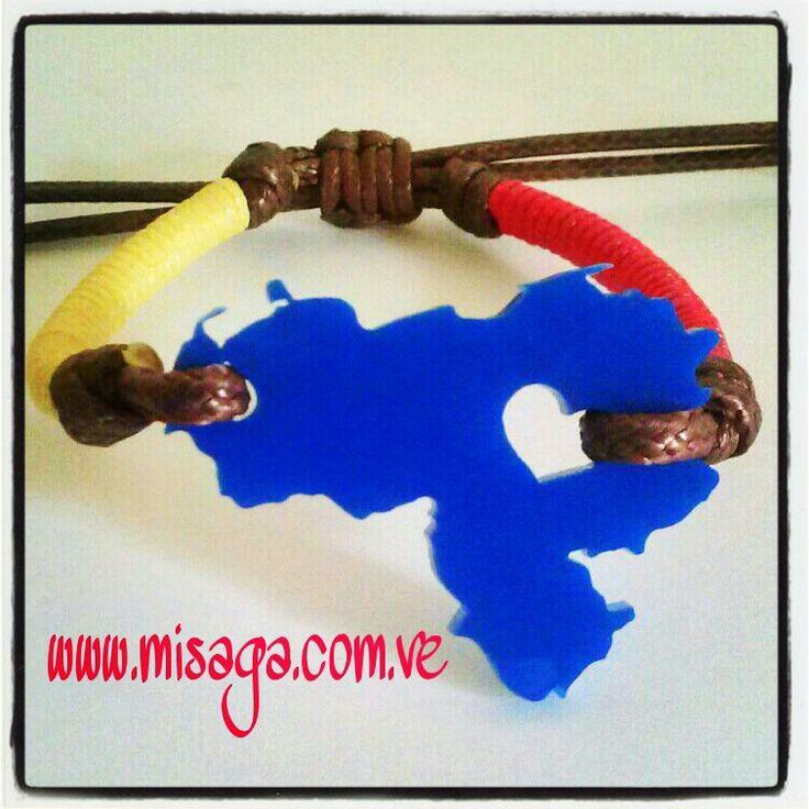 Pulsera con mapa de Venezuela