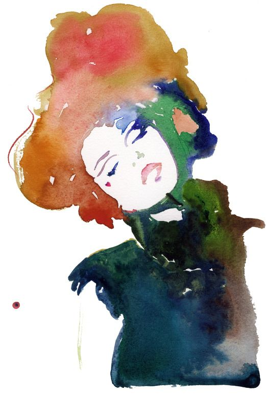 Cate Parr; Watercolor, 2010