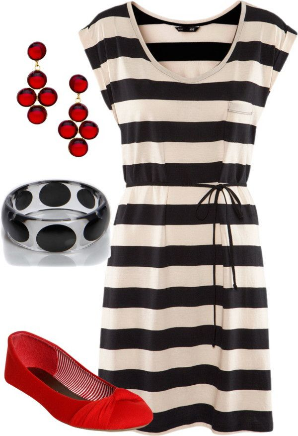 Summer dress style that I like.  Don't like accessories.  Color fine, could be brighter.