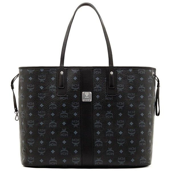 MCM Liz Medium Reversible Tote ($620) ❤ liked on Polyvore featuring bags, handbags, tote bags, apparel & accessories, black, shopping bag, mcm purse, handbags totes, shopper tote handbags and drawstring tote bags
