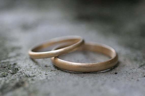 10k Yellow Gold Half Round Wedding Band Set 2 Rings Hochzeitsring Sets Hochzeit Ringe Ehering