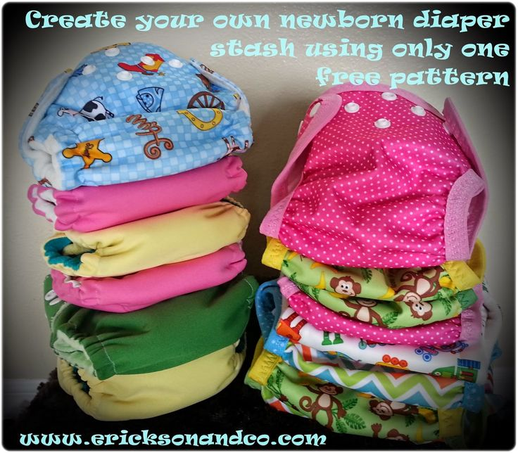 Erickson and Co.: {free sewing pattern} Sew Your Own Newborn Diaper Stash Using Only One Pattern