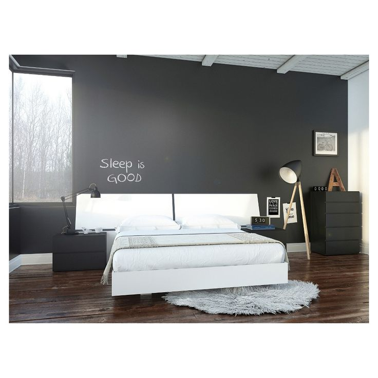 Melrose 5 Piece Queen Size Bedroom Set - Nexera, Black