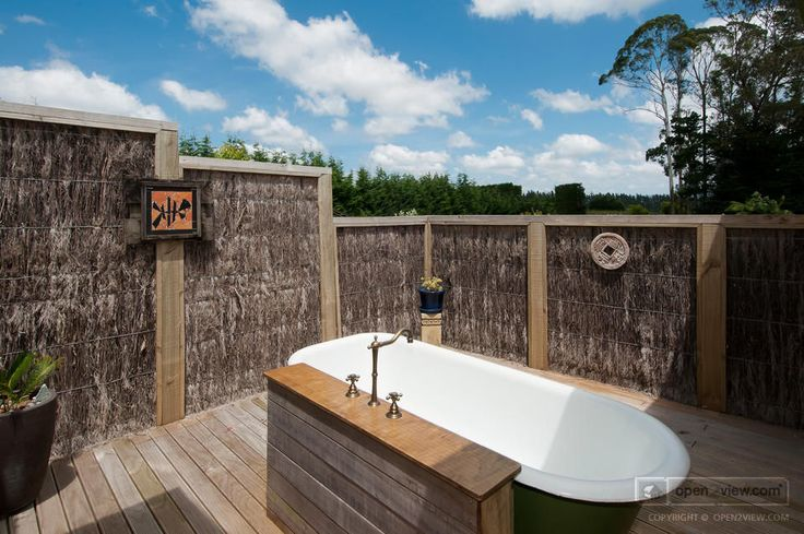 An outdoor bath? That's what we're talking about!