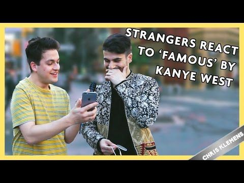 STRANGERS REACT TO KANYE WEST 'FAMOUS' MUSIC VIDEO | Chris Klemens