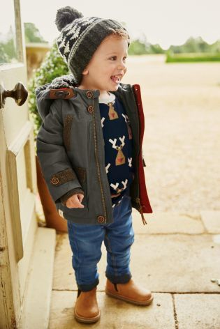 Buy Khaki Waxy Jacket (3mths-6yrs) from the Next UK online shop