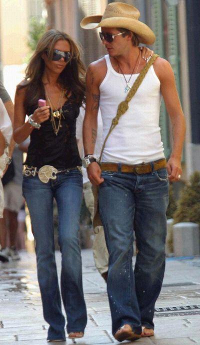Victoria & David Beckham on holiday in St Tropez, 2005 ...