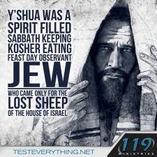 Yahshua followed Torah. But he came for anybody who wanted him. beautiful Him. beautiful you, beautiful me...beautiful....... (I once heard a Jewish believer make this sobering statement: 'Jews don't need a Christian Christ. Christians need a Jewish Jesus)