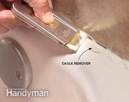 how to re caulk a shower or bathtub bathtubs. Black Bedroom Furniture Sets. Home Design Ideas