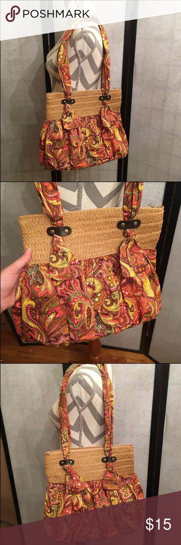 Cute Summer Purse Bought on vacation and never used. Cute for summer. Clean, non smoking home.   Happy to bundle :)  Lots of Victoria Secret, Pink, Nike, Under Armour, Lululemon, Patagonia, Miss Me, and other Buckle items to list. Follow me to check out the great deals. Bags Shoulder Bags