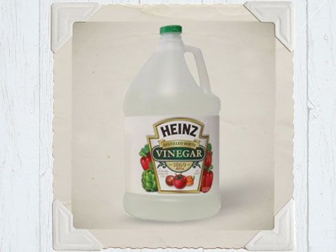 vinegar to remove paint residue from cement, brick or stone