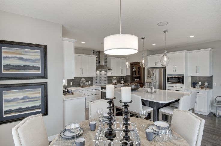 Dining room design from the Charlesmark showhome in Canal's Landing, Airdrie
