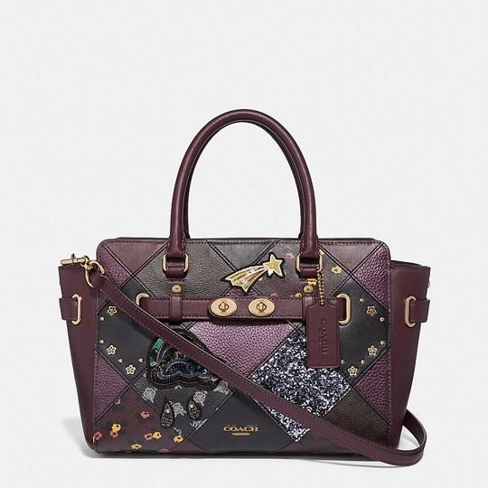 b7918df810bb Coach Blake Carryall 25 with Lucky Star Patchwork Raspberry Multi/Light  Gold Leather Satchel - Tradesy