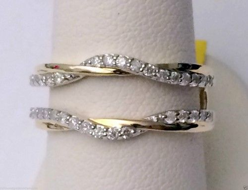 Yellow Gold Solitaire Enhancer Ring Guard Wrap (0.35ct. tw)-RG331422027534