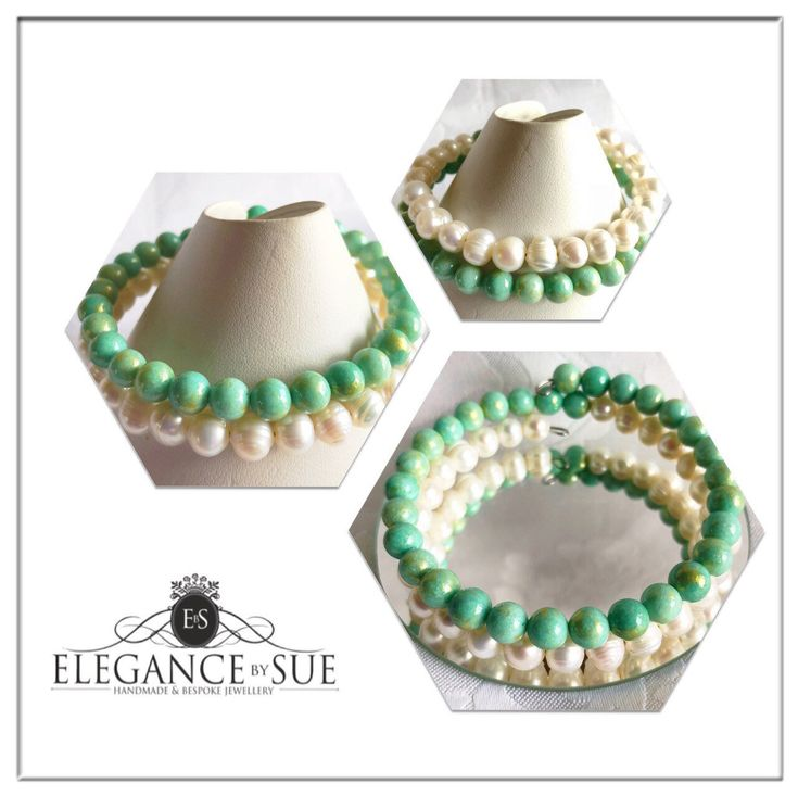 A personal favourite from my Etsy shop https://www.etsy.com/uk/listing/598697343/green-jade-white-freshwater-pearl-wrap