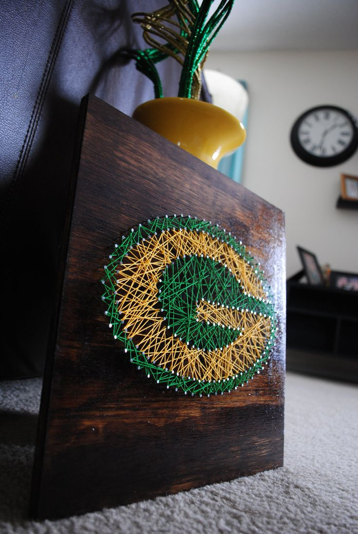 Green Bay Packers- Stained Small. $55.00, via Etsy.