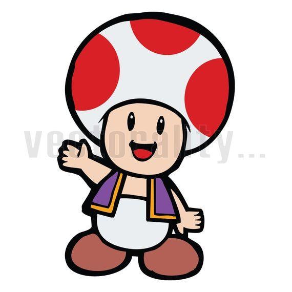 Toad Super Mario Bros Character Retro Video Game Vector Art Etsy Super Mario Bros Mario Mario Bros