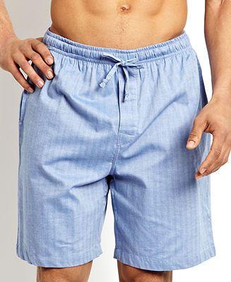Nautica Men's Sleepwear, Blue Herringbone Short - Pajamas, Robes & Slippers - Men - Macy's