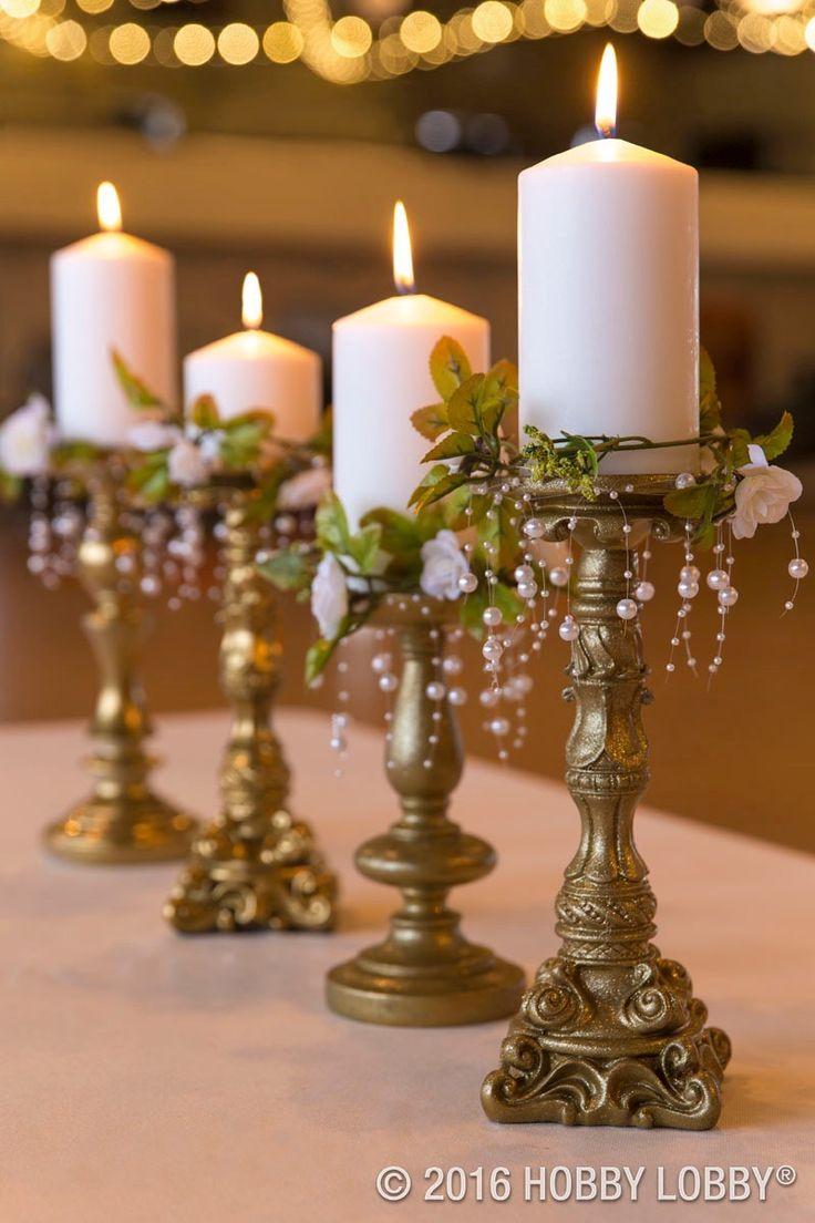 DIY elegant centerpieces to inspire your wedding reception decor!