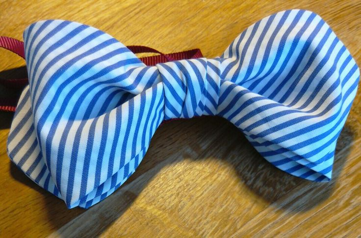Striped cotton bowtie. A well loved shirt recycled! #cotton #bowtie #stripe #handmade #mensfashion
