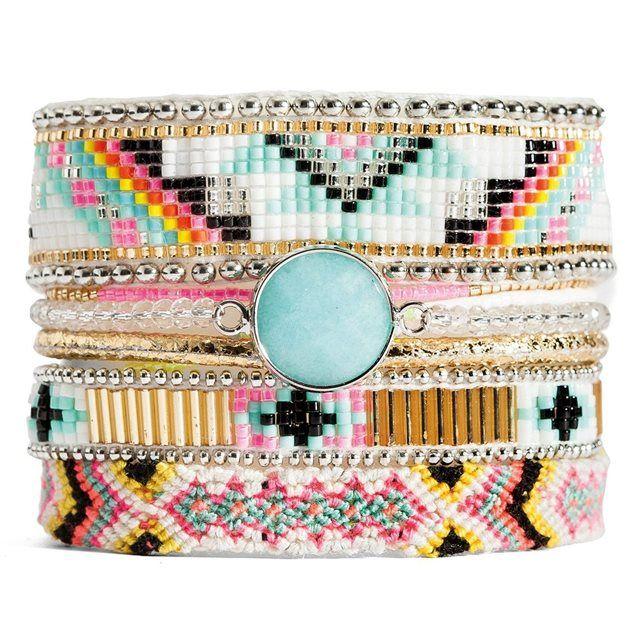 Bracelet brésilien Cardamine bleu Hipanema pas cher prix Bracelet Femme La Redoute 85.00 €