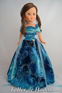 VESTIDO PARA MUÑECA NANCY DE FAMOSA. PLEAMAR NOCTURNA. (Juguetes - Muñeca española Moderna - Nancy y Lucas, vestidos y accesorios)
