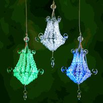 Gleaming Tent Chandelier, Battery Operated Chandelier