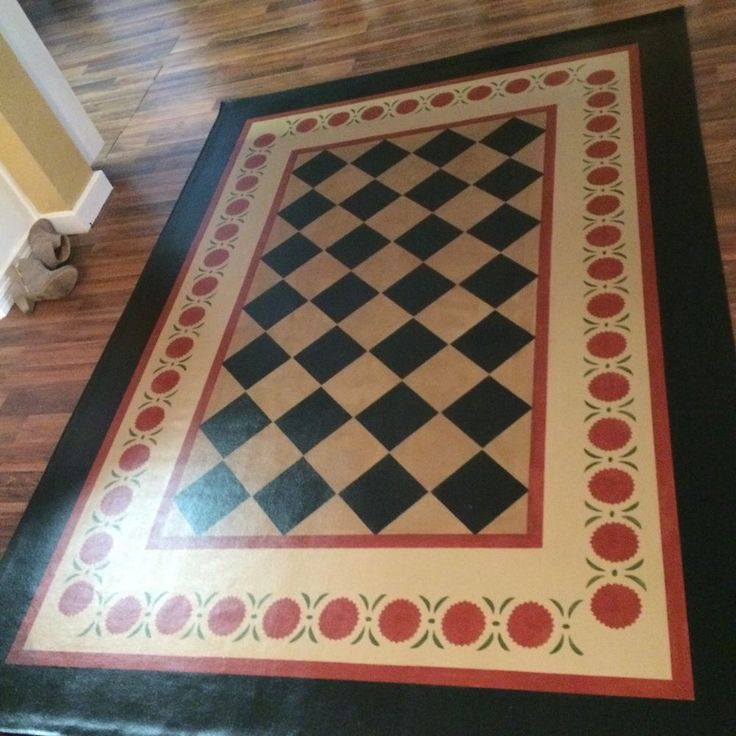 Washable Primitive Rugs: 91 Best Images About Floorcloth On Pinterest