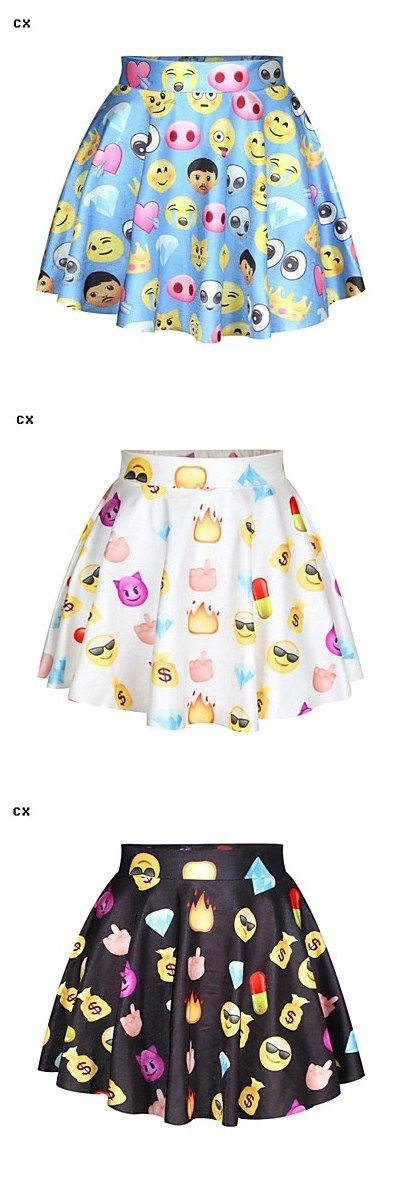 OMG, emoji skirts! Get them for $9.84. Free shipping and ships within 24 hours, too.