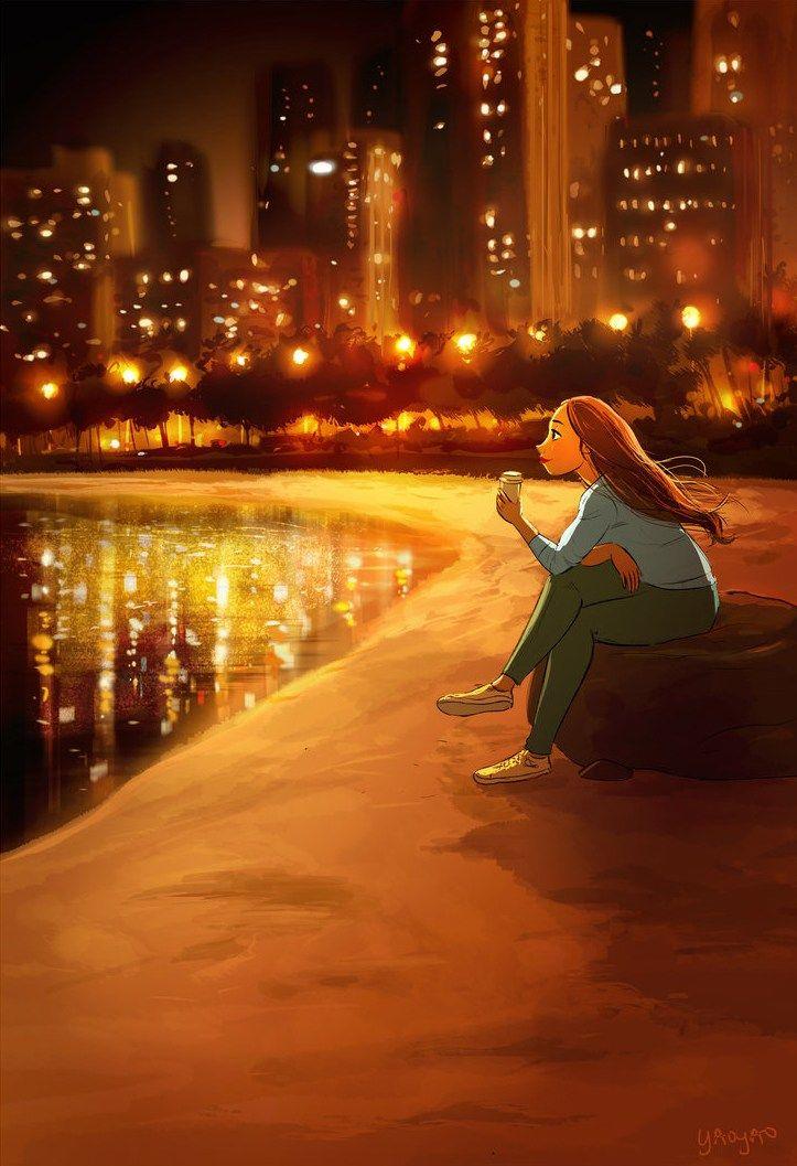 As ilustrações da Yaoyao Ma Van mostram o estilo de vida de uma moça solteira, feliz, que ama as coisas simples da vida e que...