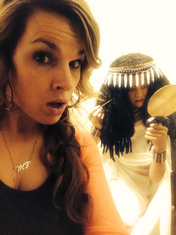 First ever makeup selfie.  Wealthy Egyptian woman at the ROM (Royal Ontario Museum)