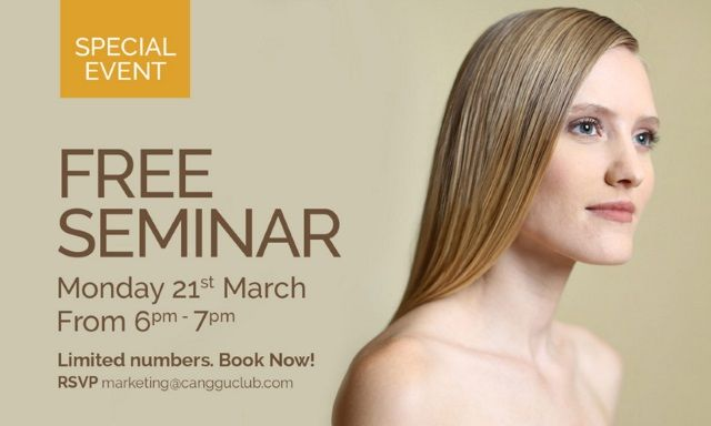 March 21 – 23: Hair Testing & Energy Screening with Dr John Rodgerson at Berawa #todobali #seminarbali  - By Body Temple Spa​