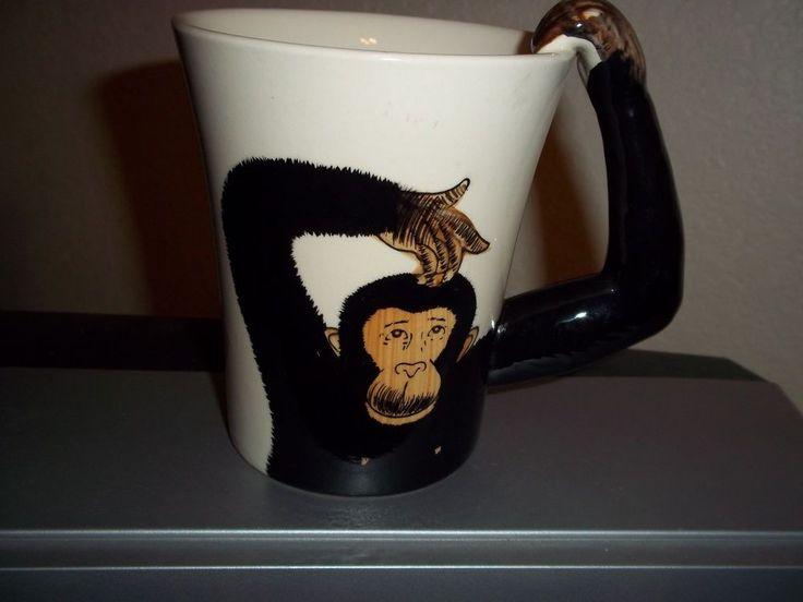 Monkey Coffee Cup Mug Arm Handle Tall Pier 1 Imports